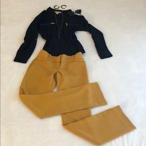 Gold Limited Pants Sz 0 Drew Fit